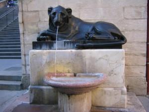 place Sathonay (fontaine au lion)