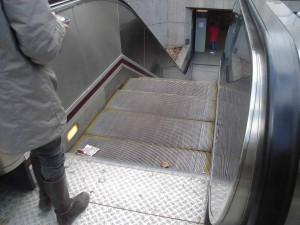 escalator métro Sans-Soucis