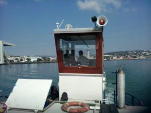 Le capitaine dans sa cabine